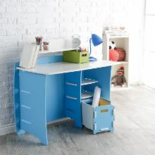 Legare 43 in. Desk with Shelf and File Cart - Blue & White