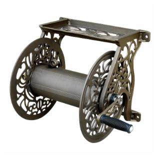 Liberty Garden Cast Aluminum Wall Mount Hose Reel