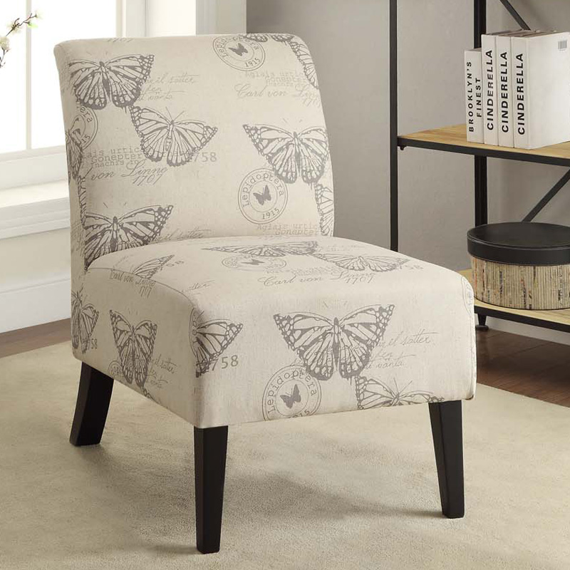 Linon Butterfly Lily Slipper Chair Accent Chairs At