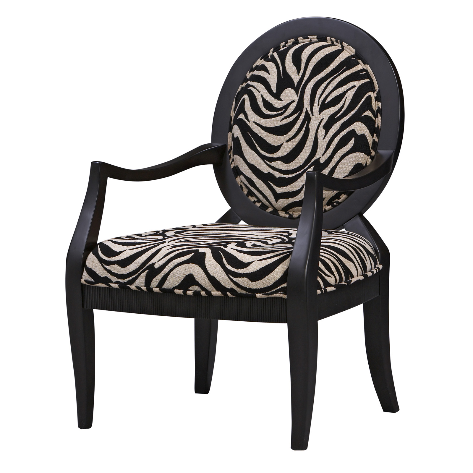Zebra Print Occasional Arm Chair At Hayneedle