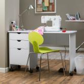  Beldin Mobile Sewing Desk - White