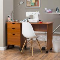 Beldin Mobile Sewing Desk - Dark Oak