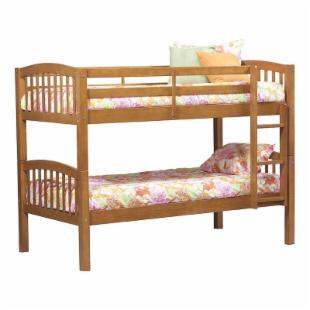 Linon Mission Style Twin over Twin Bunk Bed