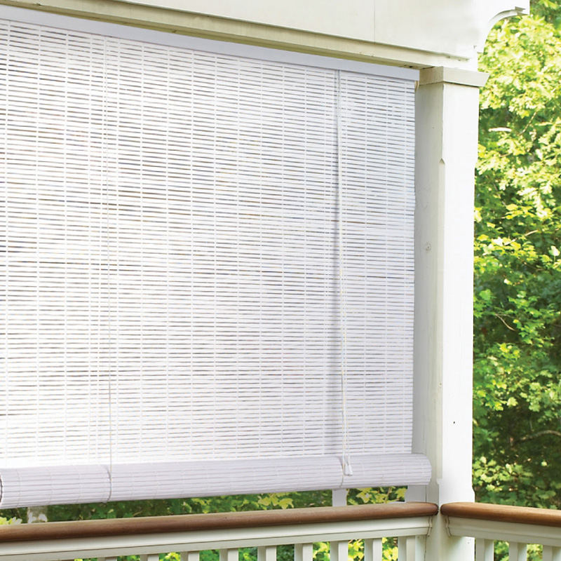 Radiance Vinyl PVC IndoorOutdoor Roll Up Blind At Hayneedle