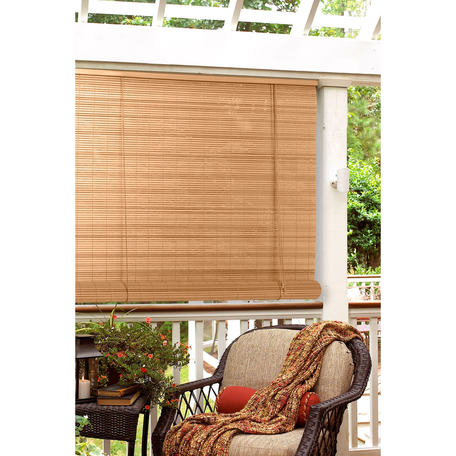 in oval pvc indoor outdoor roll up blind sun shades at hayneedle