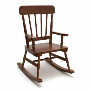 Lipper High Back Pine Childrens Rocking Chair