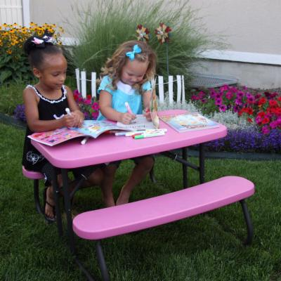 Lifetime Products Kids Folding Picnic Table - Pink