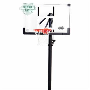 Lifetime 54 Inch Glass Adjustable In-Ground Basketball System with Pump Adjust