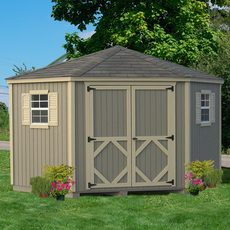 Home Gym In Shed: Little Cottage 10 X 10 Ft. 5-Sided Classic Panelized