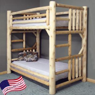 Lakeland Mills Rustic Full over Full Bunk Bed