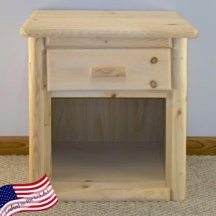 Lakeland Mills Rustic 1 Drawer Nightstand