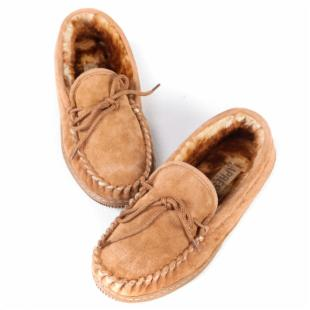 Lamo Mens Suede Moccasin Slippers