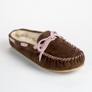 Lamo Womens Britain Slide Slippers in Chocolate