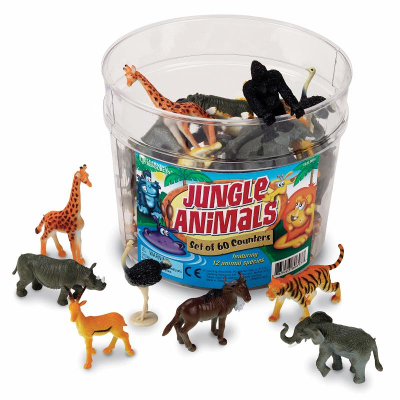 Learning Resources Jungle Animal Counters LRE167-1