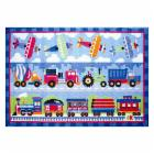 L.A. Rugs Trains, Planes, & Trucks Kids Area Rug