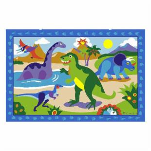Olive Kids Dinosaur Land Kids Rug