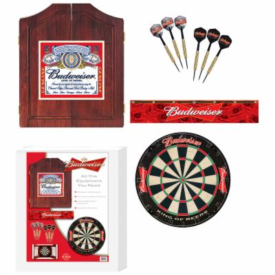  Budweiser Bristle Dart Board with Cabinet