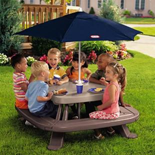 Little Tikes Fold n Store Picnic Table with Umbrella