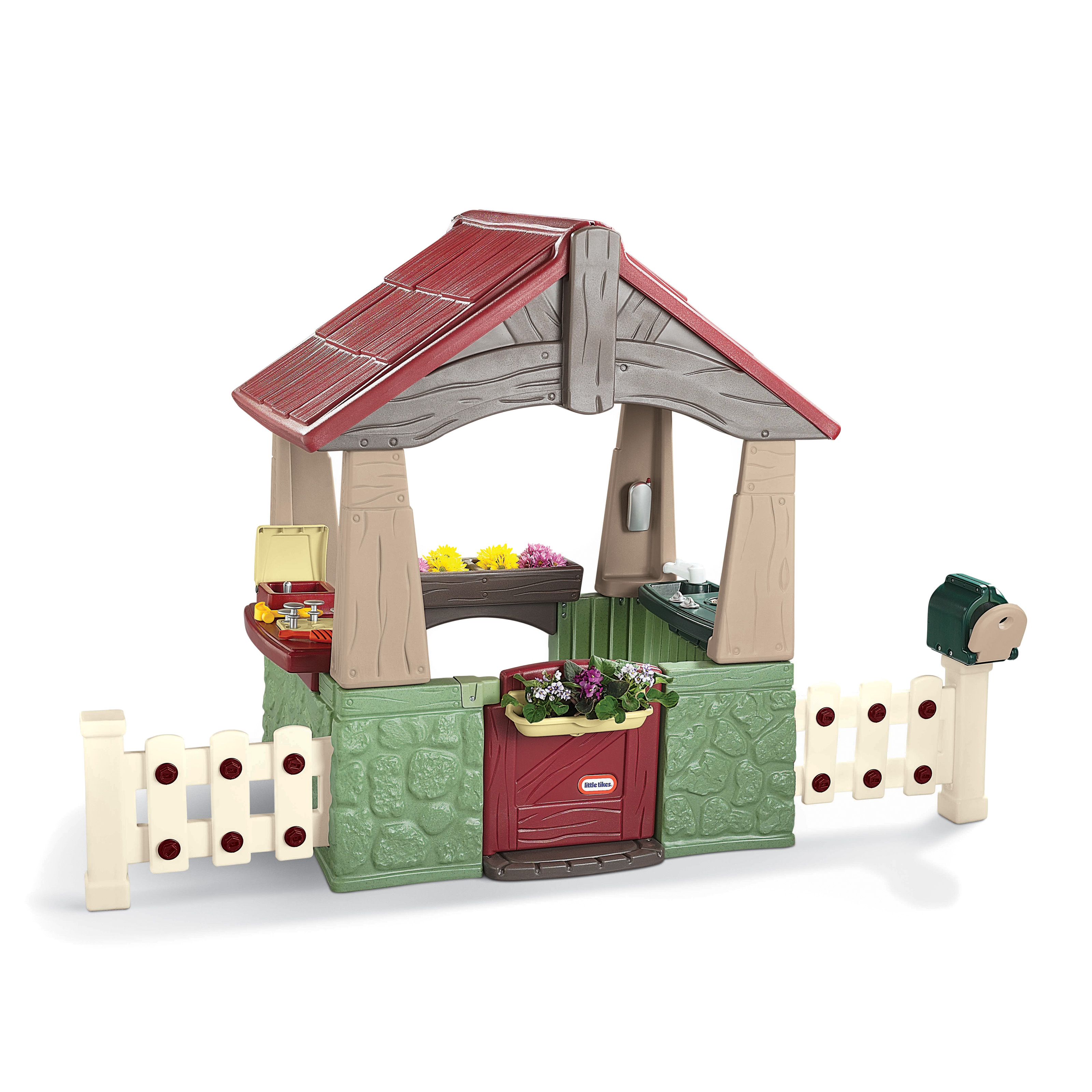 little tikes home garden playhouse at hayneedle
