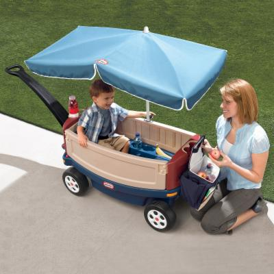 Little Tikes Ride & Relax Wagon with Umbrella & Cooler