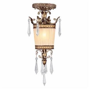 Livex La Bella 8801-65 Mini Pendant - Vintage Gold Leaf - 7.5 diam. in.