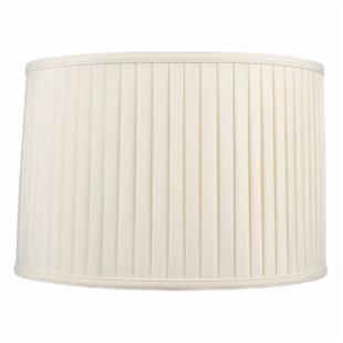 Livex S569 Shantung Silk Pleat Drum Lamp Shade in Off White