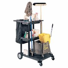  Luxor 3 Shelf Large Janitor Cart