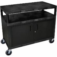  Luxor 2 Shelf Industrial Cart with Locking Doors
