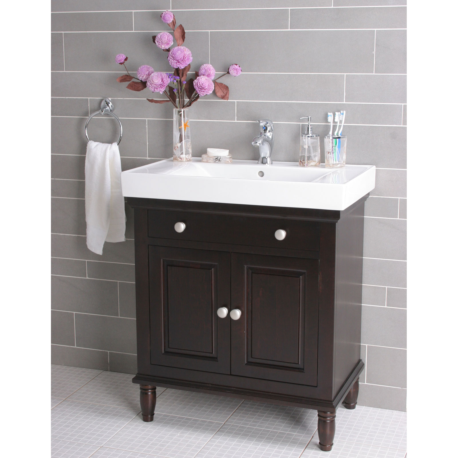 Single Sink Bathroom Vanities : 3 - 4 Stars | Hayneedle.