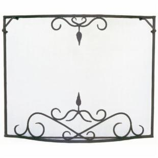 Minuteman Intl. Single Panel Bostonian Curved Fireplace Screen