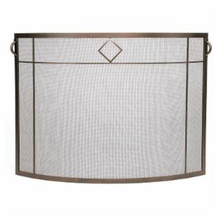 Minuteman Intl. Single Panel Diamond Fireplace Screen