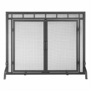 Minuteman Intl. Single Panel Mesh Fireplace Screen with Doors