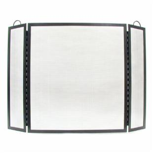 Minuteman Intl. 3 Panel Traditional Fireplace Screen - Natural Iron