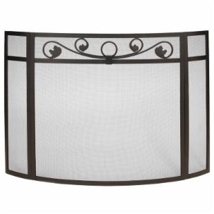 Minuteman Intl. 3 Panel LaVerne Fireplace Screen