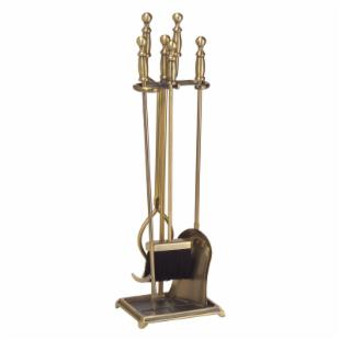 Minuteman Intl. Evan Fireplace Tool Set - Antique Brass