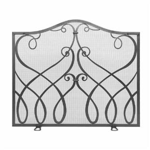 Cypher Collection - Flat Fireplace Screen in Graphite