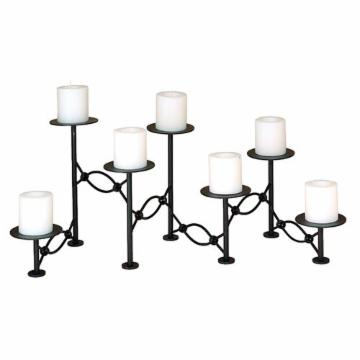 7 Candle Black Fireplace Candelabra