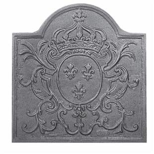Natural Iron Louis XV Fireback