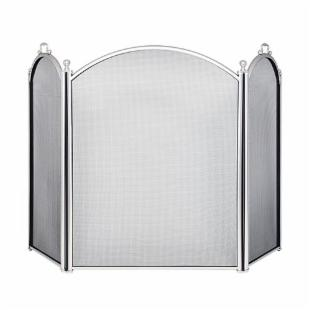 Arched 3-Fold Fireplace Screen
