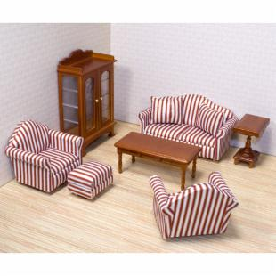 Melissa and Doug Victorian Living Room Doll Furniture Set - 1 in. Scale