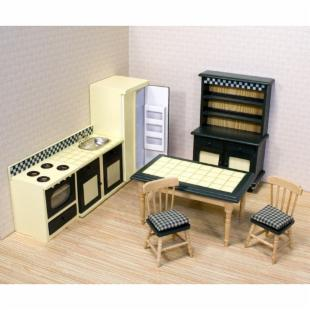 Melissa and Doug Victorian Kitchen Furniture Set - 1 in. Scale