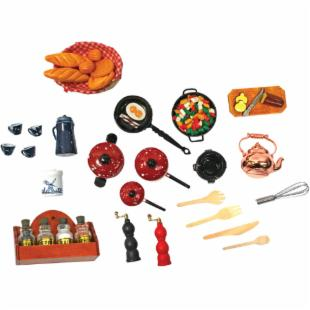 Melissa and Doug Victorian Kitchen Accessory Set - 1 Inch Scale