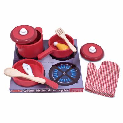  Melissa and Doug Wooden Kitchen Accessory Playset