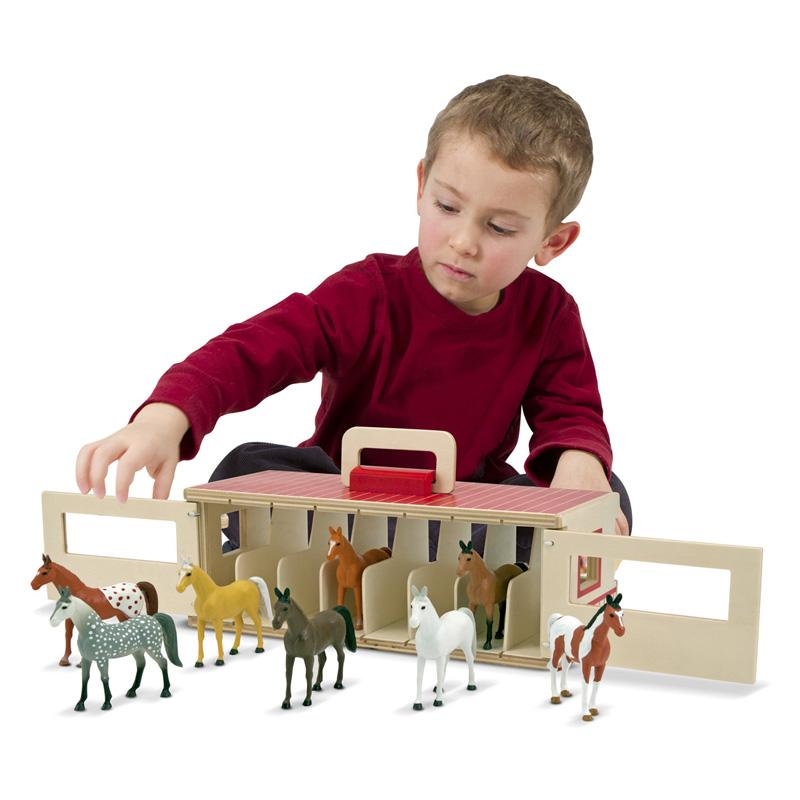 Melissa and Doug Take-Along Show-Horse Stable Playset MAD1120-1