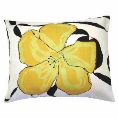 Yellow Hibiscus Flower Pillow