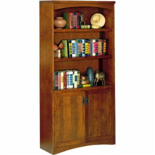 kathy ireland California Bungalow Wood Bookcase with Doors