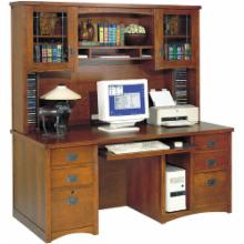  Bungalow Double Pedestal Computer Desk with Optional Hutch by Kathy Ireland