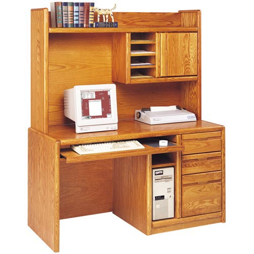 Martin miranda computer desk with optional hutch at hayneedle - Hutch style computer desk ...