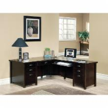  Tribeca Loft Cherry L-Shaped Desk by Kathy Ireland