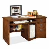  kathy ireland Mission Pasadena Single Pedestal Computer Desk